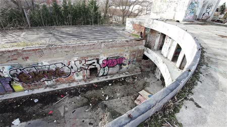 thrash : Scary Abandoned Building Complex Graffitti Walls and Massive Destruction