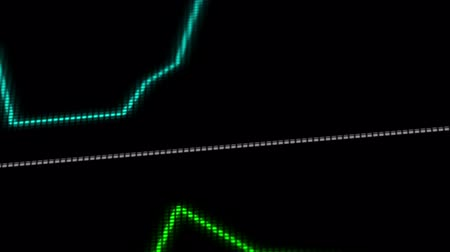 rpm : EKG ECG monitor extreme close up macro Stock Footage
