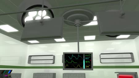 rpm : High Tech Operation Room Hospital Interior Stock Footage