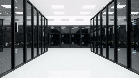 merkez : CPU Unit Server Room Data Center 3D animation