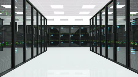 serwerownia : CPU Unit Server Room Data Center 3D animation