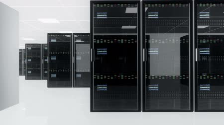 shluk : CPU Unit Server Room Data Center 3D animation