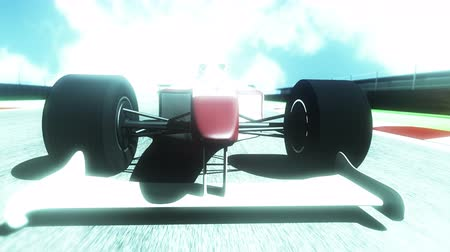 formuła : 4K Race Car on Race Course going across the Finish Line high quality 3D animation