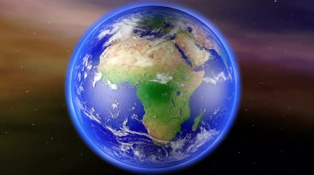 afrika : 4K Earth Zoom to South Africa with Matte - Camera push zoom into Earth from space 3D animation Dostupné videozáznamy