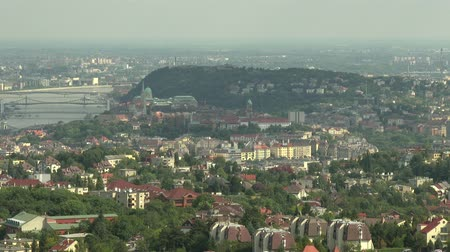 budapeste : 4K Budapest Hungary Aerial view to the Downtown area from Buda side