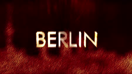loga : 4K Berlin Germany City Name Revealing in a Modern Funky Design