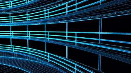rechenzentrum : Ultra moderne Data Center Design-Wireframe 3D Animation Videos