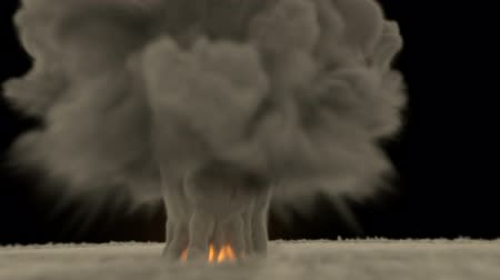 nukleární : High detailed Full HD photo realistic computer generated and animated huge nuclear  hydrogen explosion