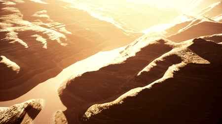mês : Aerial Shot of a Rocky Canyon and a Lake 3D Animation 6 stylized Vídeos