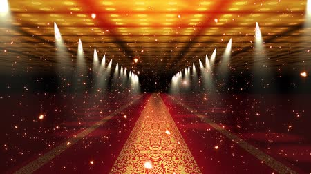 halı : 4K Red Carpet Festival Glamour Scene with Fireflies Animation 4K 3840x2160 ultra high definition Stok Video
