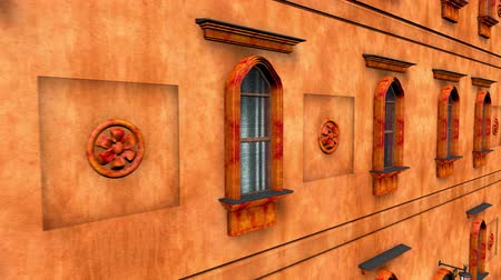 fachada : 4K Fancy European Style Building Windows Facade 3D Animation 1 Vídeos