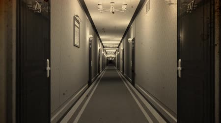 lobi : Elegant Hotel Corridor Cinematic Dolly Vintage 3D Animation 1