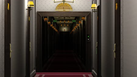 lobi : Elegant Hotel Corridor Cinematic Vertigo Effect 3D Animation 4