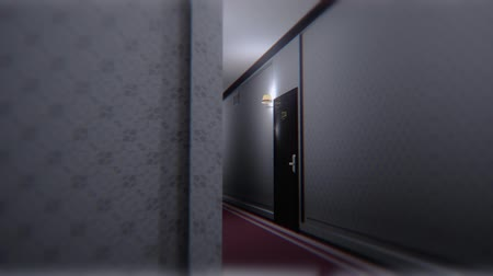 lobi : Scary Elegant Hotel Corridor Cinematic Dolly 3D Animation 3