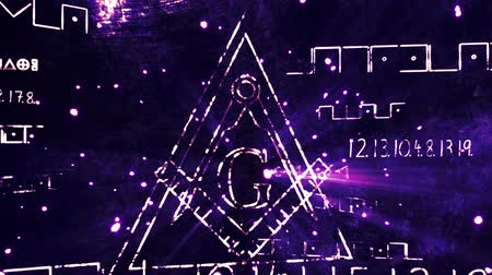 masonic : 4K Revealing The Free Masonic Grand Lodge Sign and Illuminati Secret Characters in an Abstract Drawing Grungy Design