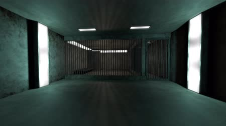 jail bars : 4K Old and Demolished High Security Super Criminal Solitary Confinement Cell, Lockup Scene 3D Animation