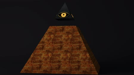 tudo : 4K All Seeing Eye of God , The Eye of Providence Pyramid Illuminati Symbol Animation