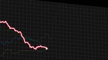 literário : 4K Chart Simulation of Oil Price Drop between 2014 and 2016 Animation with Black Background