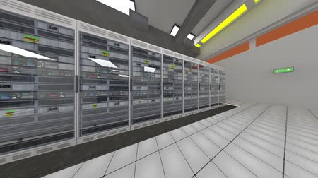 rechenzentrum : Data Center Server-Raum Rendefarm Hallo-Tech-Cluster-Speichersystem Videos