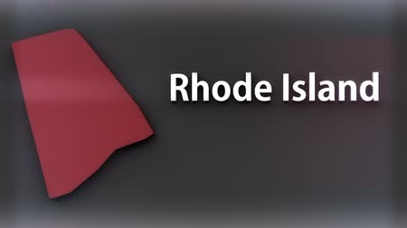 rhode : Rhode Island USA State Shape and Title Minimal Design with Luma Matte included 4K 3D Animation