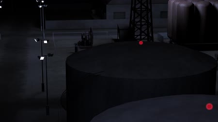 alanlar : Outpost Factory at Night 3D Animation 2 Stok Video