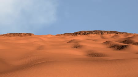 klimaat : Zand en rotsen Desert 3D Animation 1 Stockvideo