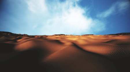desolado : Sand and Rocks Desert 3D Animation Pan 2 Stock Footage