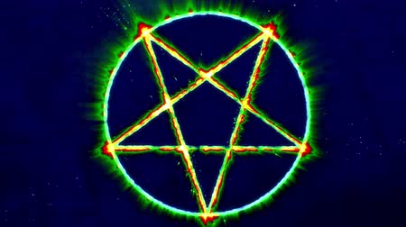 witchcraft : 4K Inverted Pentagram Symbol 8