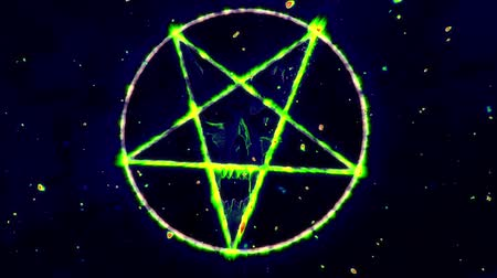 inverted : 4K Pentagram Symbol with Revealing Satan Face v2 9