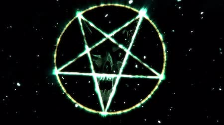inverted : 4K Pentagram Symbol with Revealing Satan Face v2 18