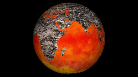 kontinenty : Death of Earth Global Warming Simulation with Matte