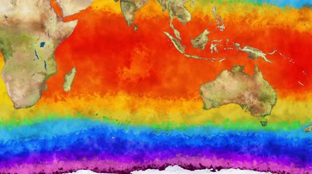 félteke : Earth Water Surface Global Warming Simulation Southern Hemisphere 2