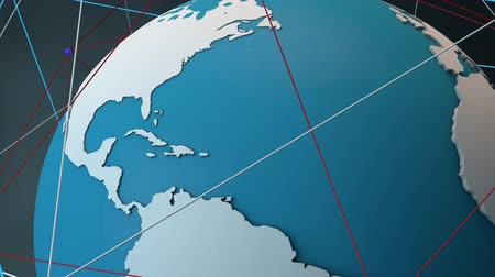 priority : Satellite System Network Connecions around The Globe Modern 3D Animation