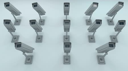 бдительность : Many Security Cameras on the Wall Surveillance