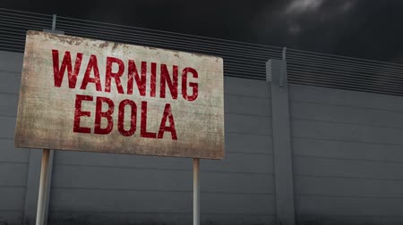 zamčený : 4K Ebola Warning and Strong Fence under Clouds Timelapse