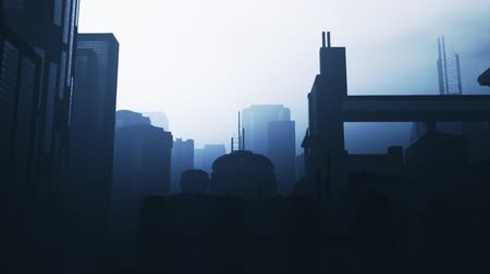 apocalyptic : Post Apocalyptic Air Polluted Metropolis 3D Animation 16