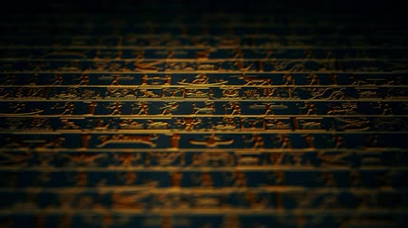 affluent : 4K Vertical Golden Egyptian Hieroglyphs Ancient Wall v4 5
