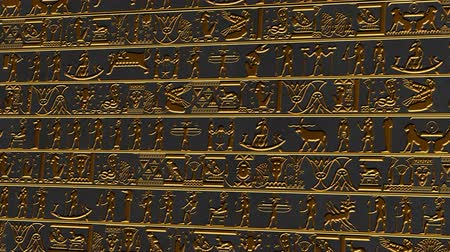 affluent : 4K Vertical Golden Egyptian Mystic Hieroglyphs Riddle Ancient Wall v2 2