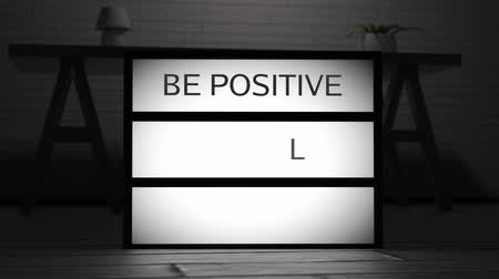 limpar : 4K Be Positive Keep Smiling Dream On Lightbox 1