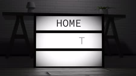 4K Home Sweet Home Lightbox 1 Archivo de Video
