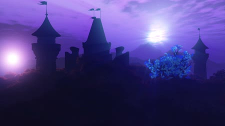 ansichtkaart : Fantasy Land with 2 Suns Magic Scene 3D Animation 2