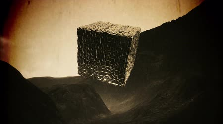 onbekend : 4K Mysterious Fantasy Cube Cinematic Sci-Fi Vintage 3D Animation