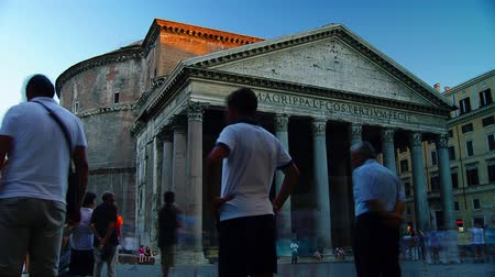 roma : ROME, ITALY - circa 2015: Time lapse of Pantheon in Rome, Italy