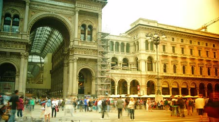 milan fashion : MILAN,ITALY,Unique view of Galleria Vittorio Emanuele II