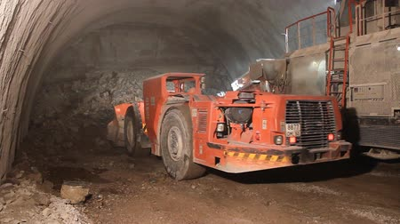 underground : Excavation Vehicle Stock Footage