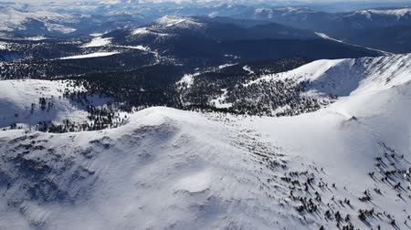 údolí : Winter. The Mountain landscape. Helicopter point of view.