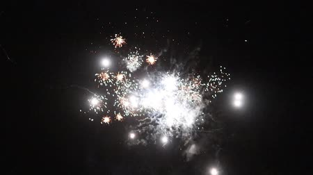 sylvester : fireworks at holiday night Stock Footage