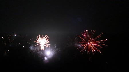 sylvester : Colorful fireworks at holiday night
