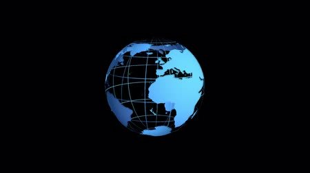 континент : 3d business globe animation