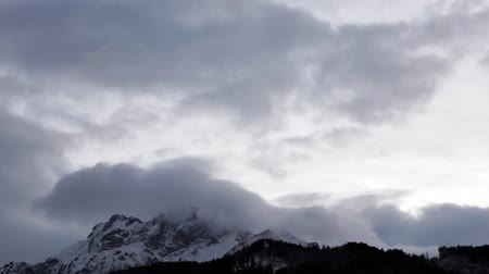 winter place : Timelapse of snow covered  mount. Pilatus! place of interest  in Switzerland Stock Footage